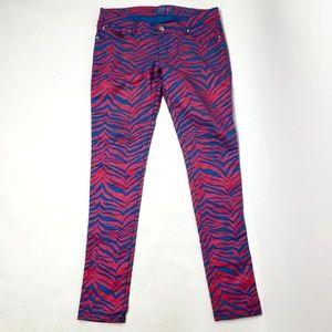 TRIPP NYC Pink Blue Zebra Pants Juniors 9